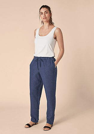 Pure linen summer trousers from s.Oliver
