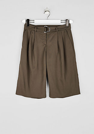 Bermuda hlače iz lesketajočega se liocela