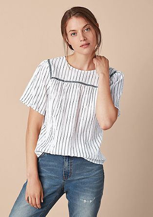 Crinkle blouse with studs from s.Oliver