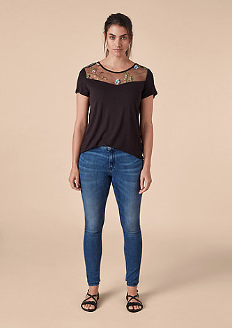 Skinny Fit: Jeans mit Waschung