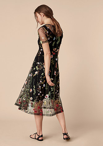 2-in-1-Kleid mit Embroidery