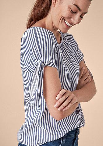 Gestreifte Off Shoulder-Bluse