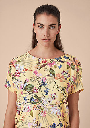 Blusenshirt im Fabricmix