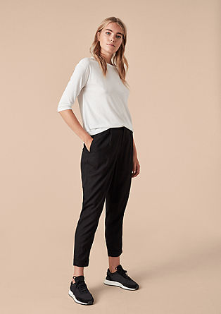 Lightweight canvas trousers from s.Oliver