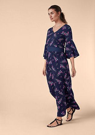 Gebloemde maxi-jurk