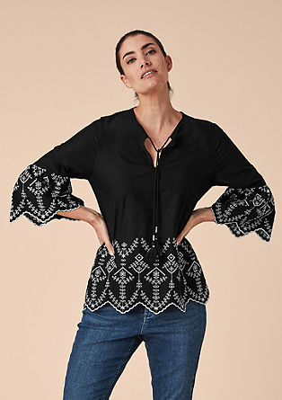 Tunic top with tribal embroidery from s.Oliver