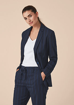 Fitted striped blazer from s.Oliver