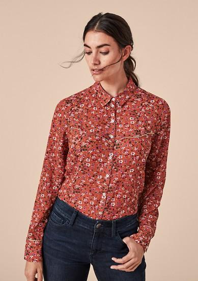 Crêpe blouse met bloemenmotief