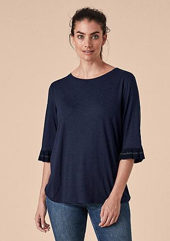Shirt mit Volantärmeln