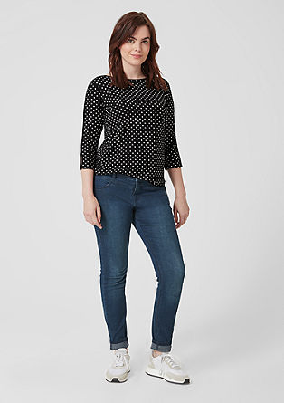 Cold-shoulder top with polka dots from s.Oliver