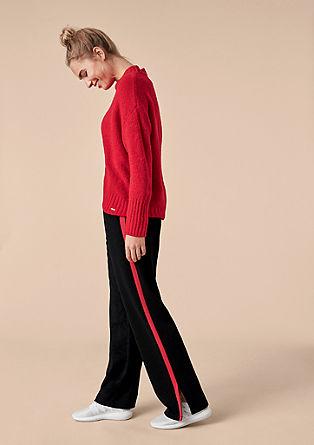Wide tracksuit bottoms with tuxedo stripes from s.Oliver
