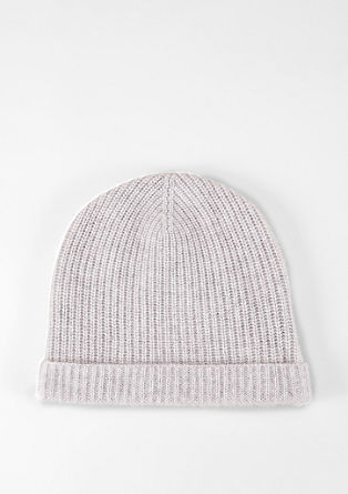 Knitted hat in pure cashmere from s.Oliver