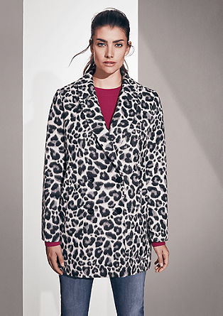 Leopard print wool blend jacket from s.Oliver