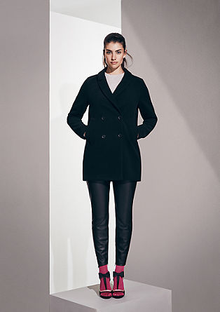Pea coat with a velvety feel from s.Oliver