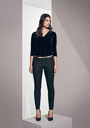 Skinny: coloured jeans from s.Oliver