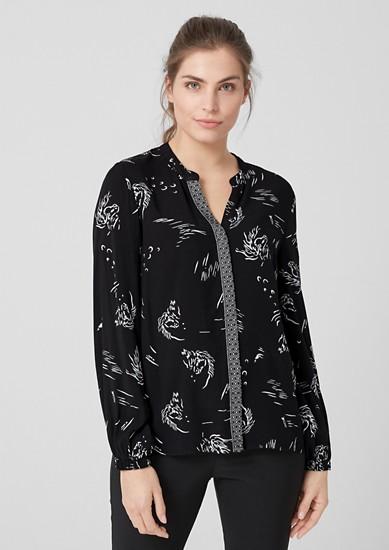Viscose blouse met motiefprint