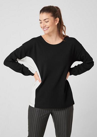Sweatshirt met colour block design