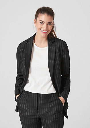 Business blazer with pinstripes from s.Oliver