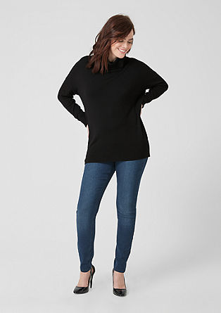 Polo neck jumper with wide trims from s.Oliver