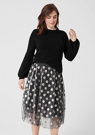 Teplý pulovr z žebrové pleteniny