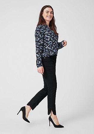 Curvy extra slim leg: jeans met 7/8-pijpen en borduursel