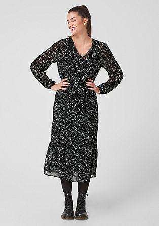 Šifonové šaty s volánem