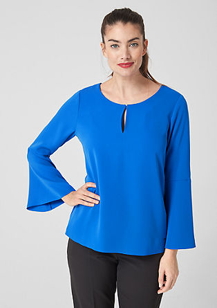 Blouse with flounce sleeves from s.Oliver
