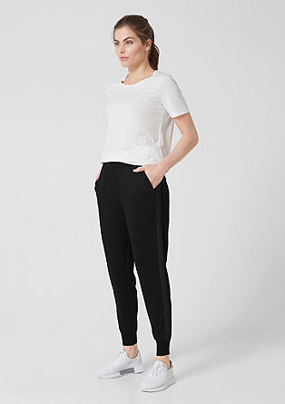 Jersey trousers with sequins from s.Oliver