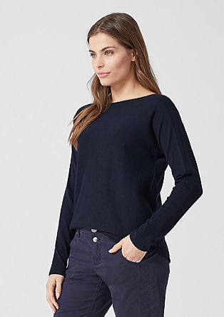 Jumper with a bateau neckline from s.Oliver