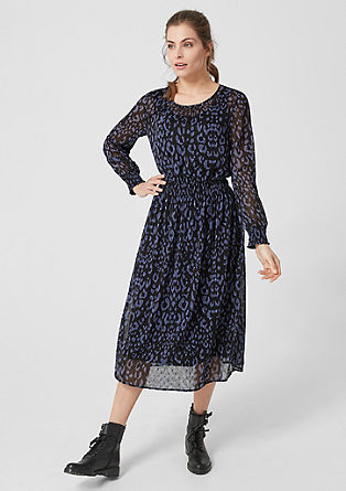 Chiffon jurk met luipaardprint