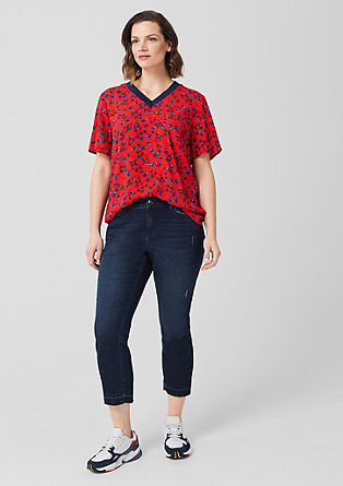 Crêpe blouse with a print from s.Oliver