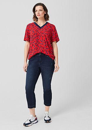 Crêpe blouse met print