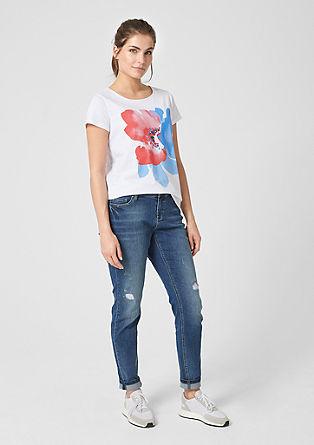 Shirt met florale print op de voorkant