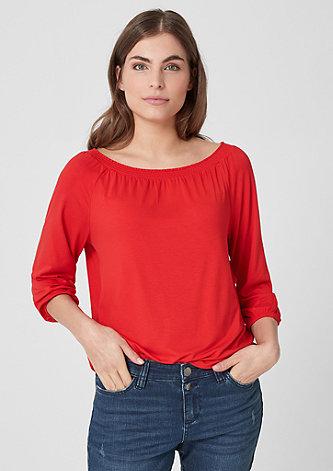 Jerseyshirt mit Carmenausschnitt