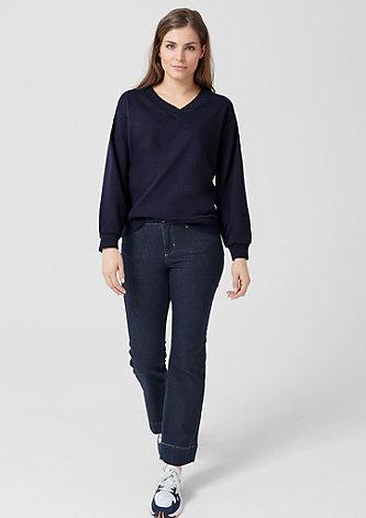 Sweatshirt mit Glitzernaht