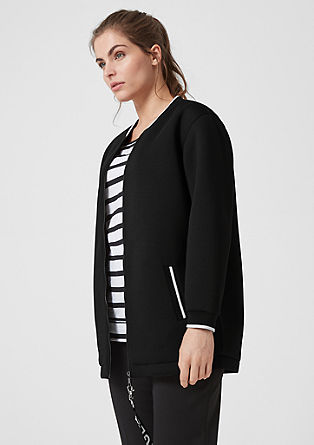 Scuba sweatshirt jacket with contrasting details from s.Oliver