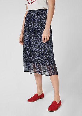 Šifonová sukně slevhartím vzorem