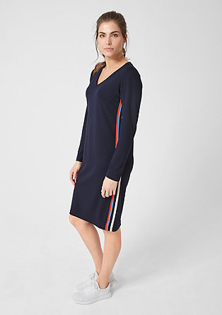Jersey dress with contrasting stripes from s.Oliver