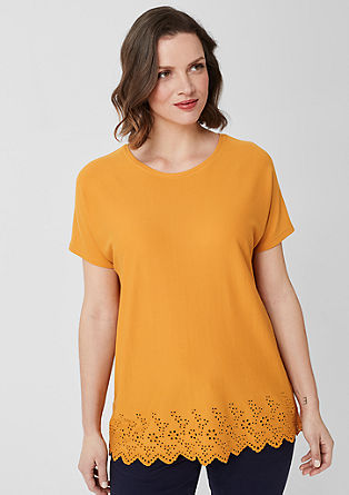 Jersey shirt met borduursel