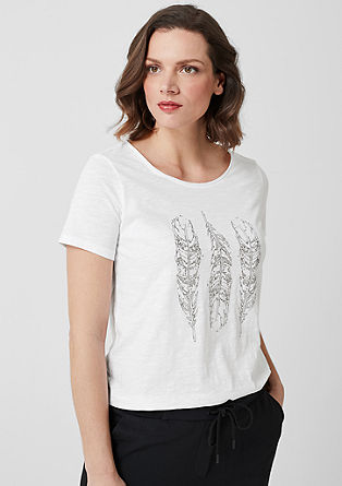 T-shirt with metallic lettering from s.Oliver