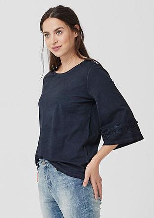 Majica v slogu pigment dye s trakom