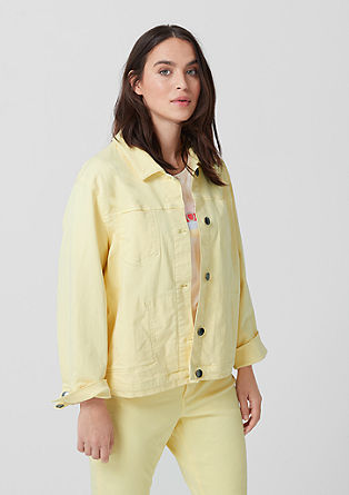 Džínová bunda zbarveného denimu