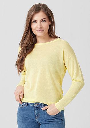 Zarter Transparenz-Pullover
