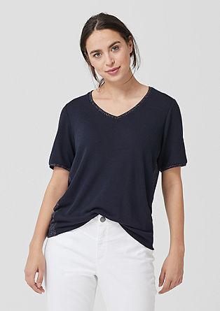Sommer-Pullover mit Glitzer-Akenten