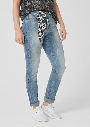 Curvy extra slim leg: jeans met animal design