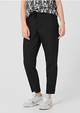 Joggingové kalhoty sžebrovým pasem