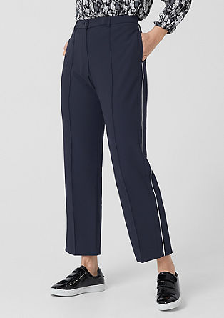 Business trousers with pressed pleats from s.Oliver