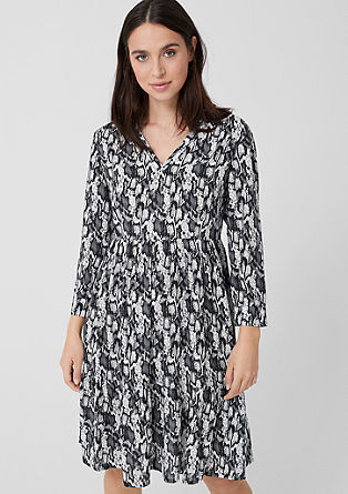 Midi dress with an animal print pattern from s.Oliver