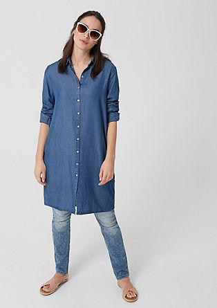 Bluzna obleka v jeans videzu