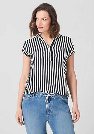 Viscose blouse with stripes from s.Oliver